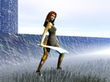 Sheila on a misty morn' (hair by Traveler, sword by Byterunner)
